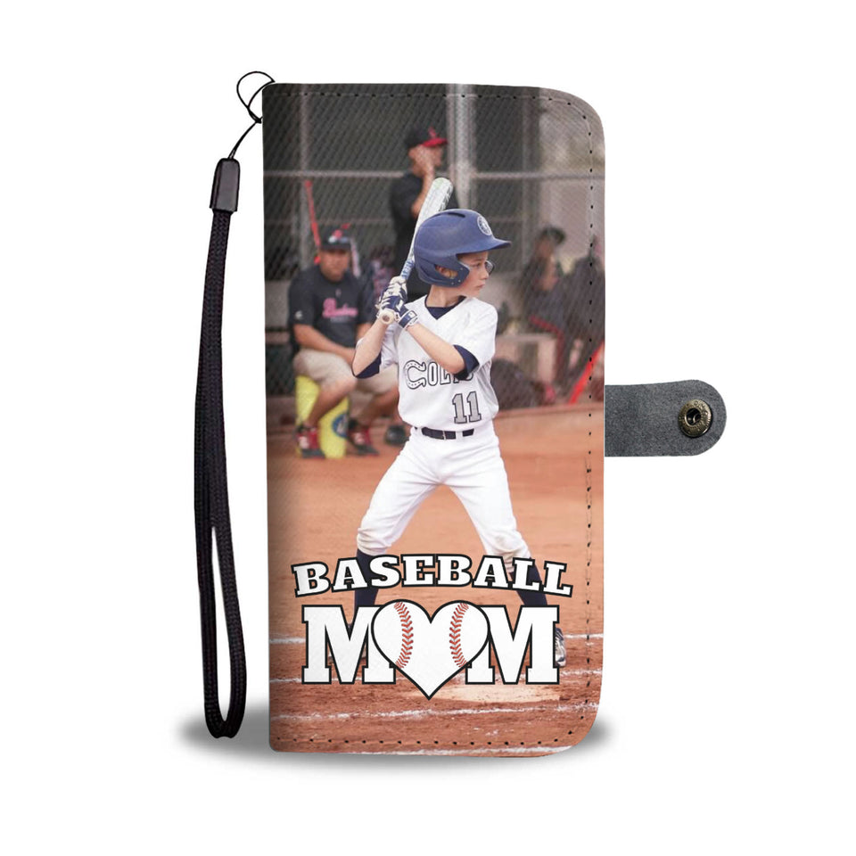 Personalized Baseball Mom Wallet Phone Case