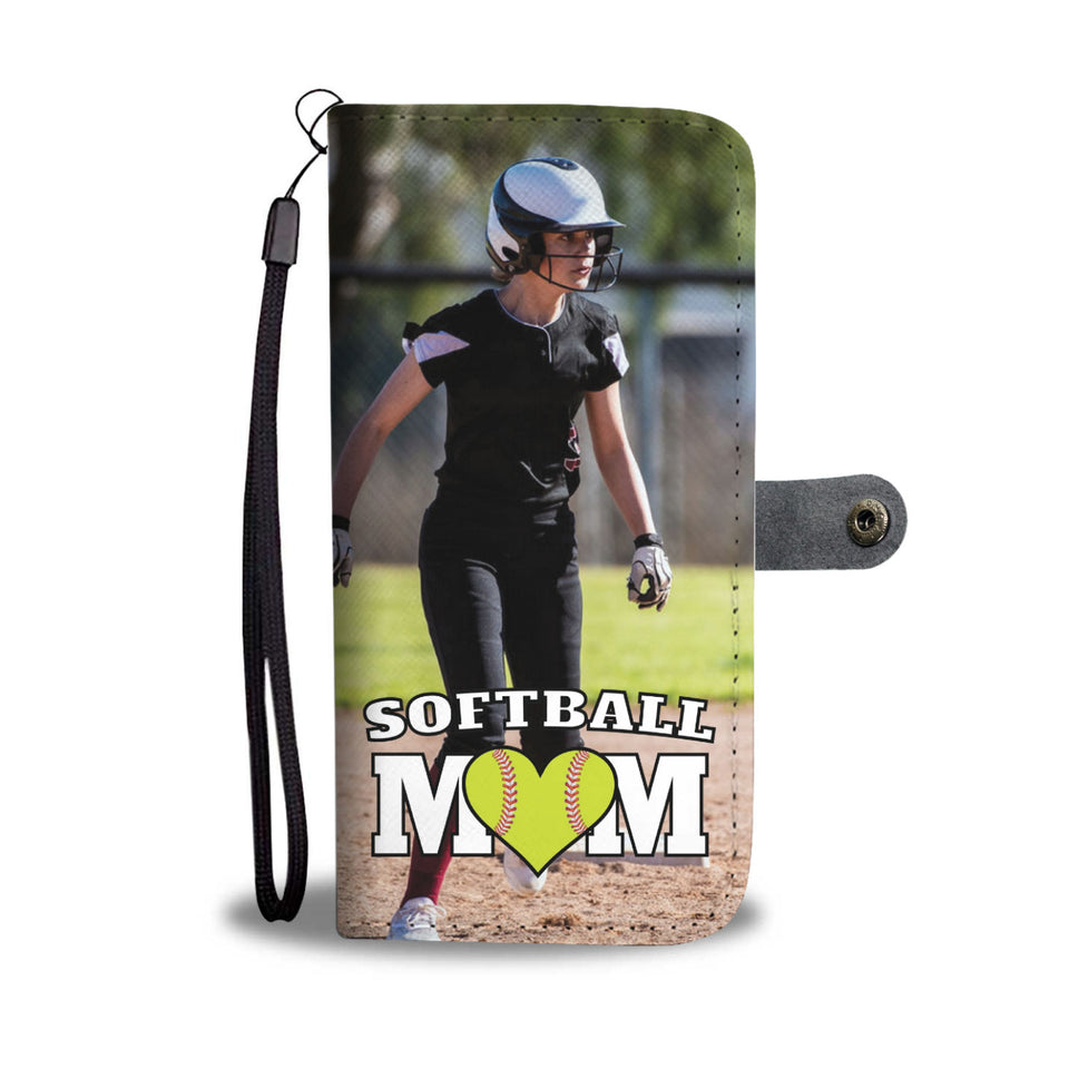 Personalized Softball Mom Wallet Phone Case