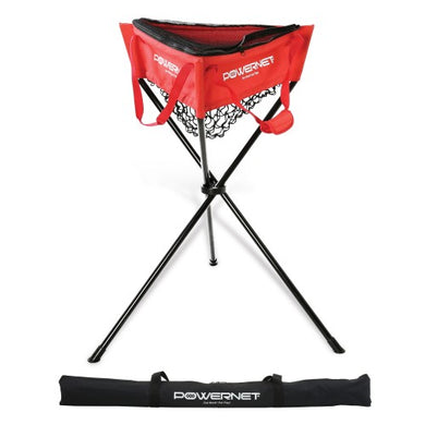 PowerNet Zippered Removable Ball Caddy - TEAM RED or NAVY - GrandSlamDirect.com