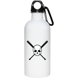 Diamond Life Skull and Bats 20 oz. Stainless Steel Water Bottle - GrandSlamDirect.com