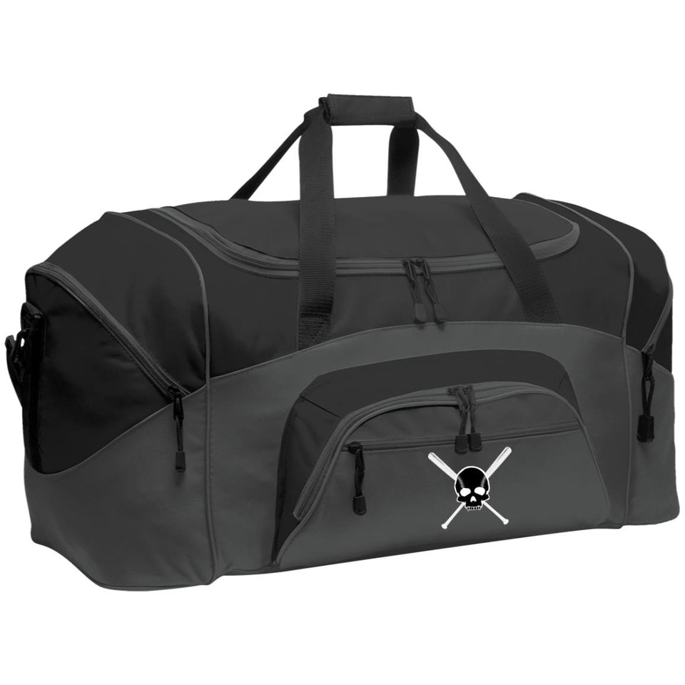 Diamond Life Skull and Bats Colorblock Duffel Bag (2 Sizes) - GrandSlamDirect.com