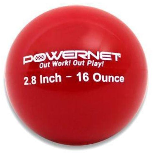 "PowerNet 2.8"" Weighted Training Balls (6 pack) (16 Oz - Red) - GrandSlamDirect.com"