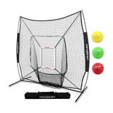 PowerNet DLX 2.0 Hitting Net System with Heavy Balls - TEAM COLORS - GrandSlamDirect.com