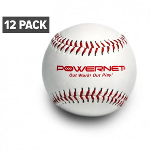 PowerNet Regulation Size Practice Baseballs (12 Pack) - GrandSlamDirect.com