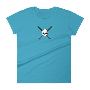 Skull and Bats Ladies Ringspun Fashion Fit Tee - GrandSlamDirect.com