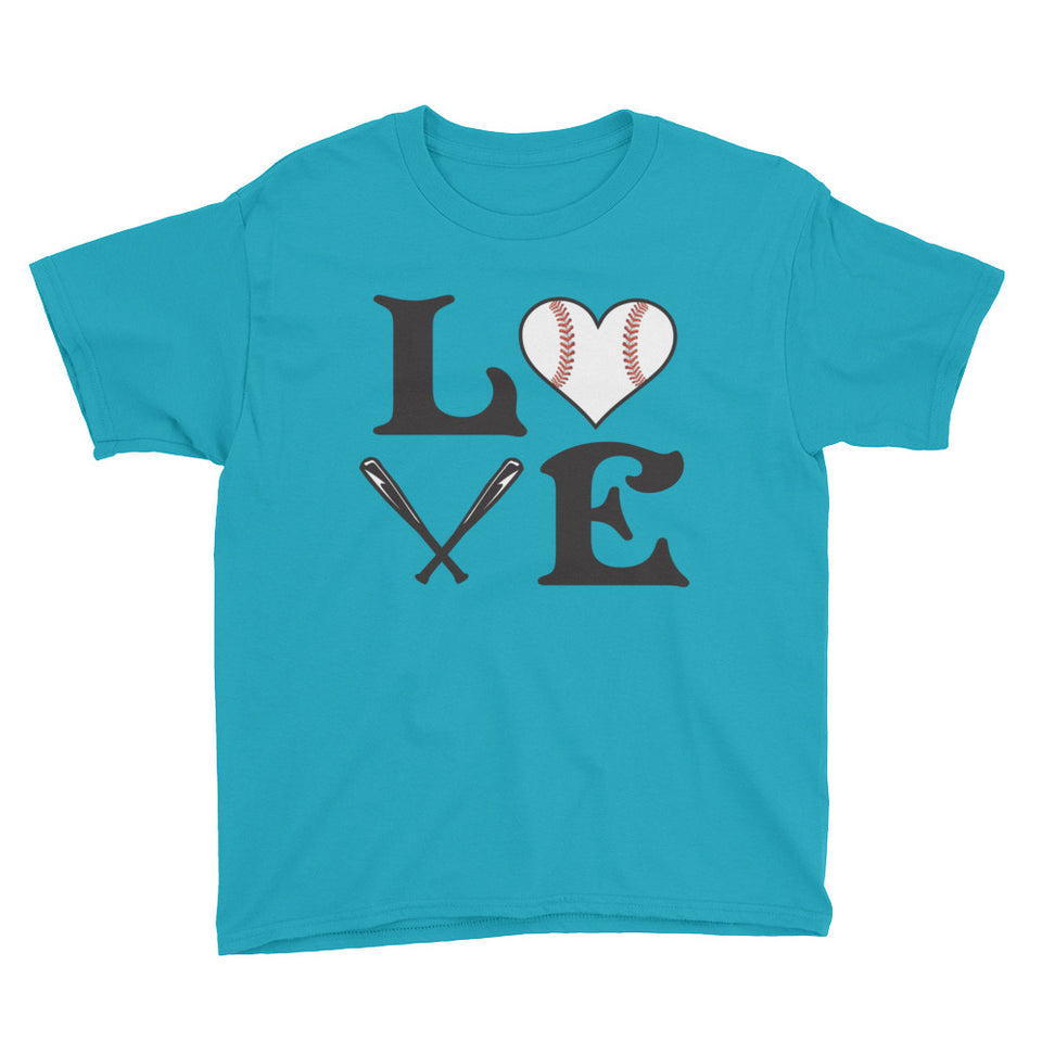 Baseball Love Youth Fashion Tee - GrandSlamDirect.com