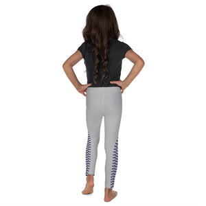 Baseball Stitch Kid's Leggings - Grey and Navy - GrandSlamDirect.com