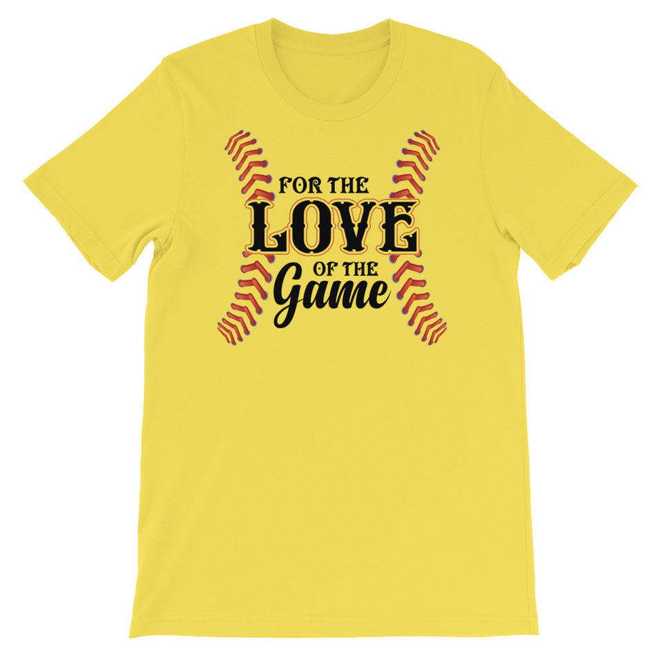 For the Love of the Game - Baseball Stitch Women's Jersey Tee - GrandSlamDirect.com
