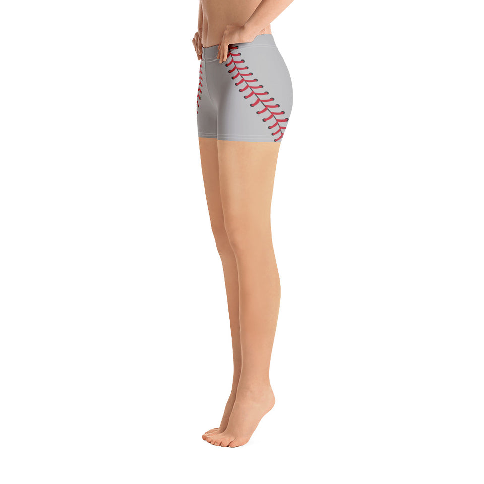 Baseball Stitch Shorts - Grey and Red - GrandSlamDirect.com