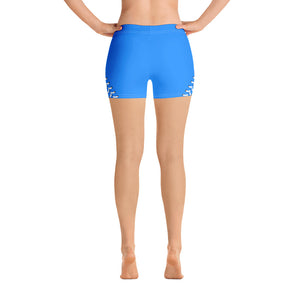 Baseball Stitch Shorts - Royal and White - GrandSlamDirect.com
