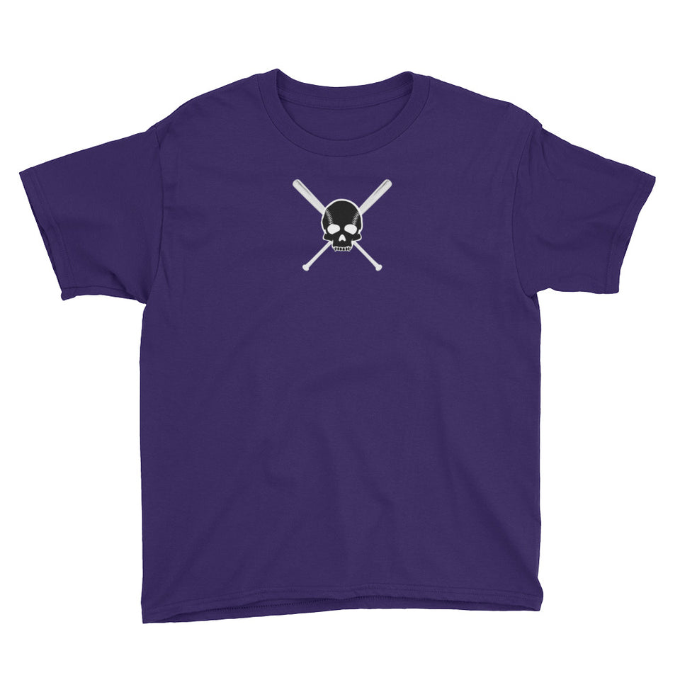 Skull and Bats Youth Tee - GrandSlamDirect.com