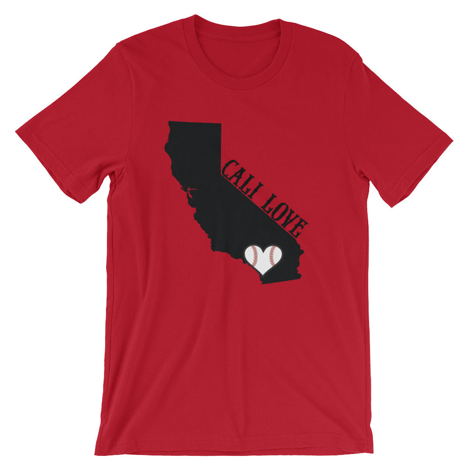 Cali Baseball Love Women's Short-Sleeve T-Shirt - GrandSlamDirect.com