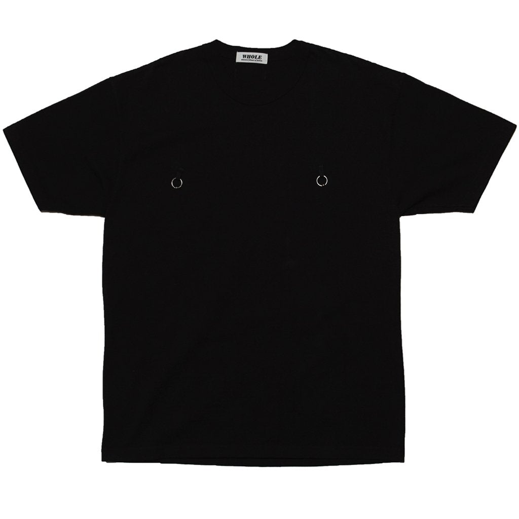 DOUBLE PIERCING T-SHIRT - BLACK