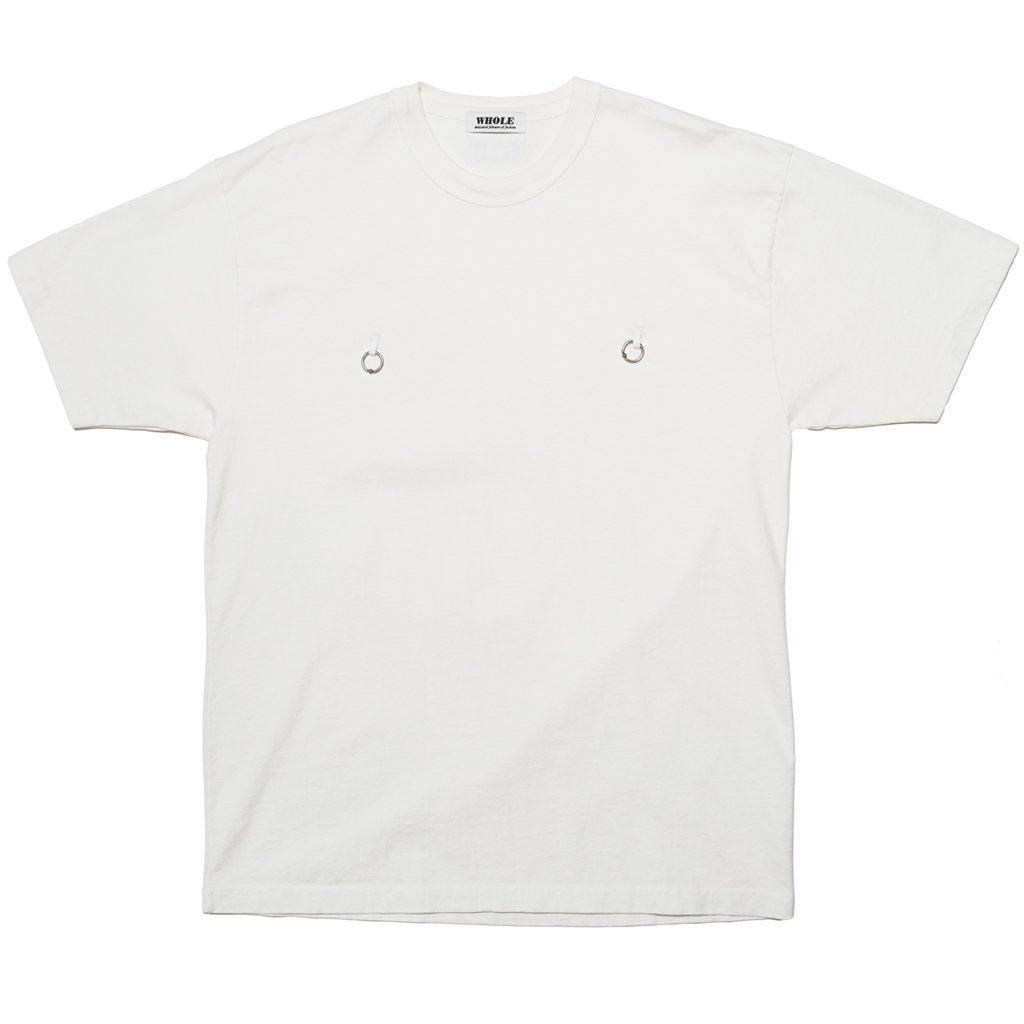 DOUBLE PIERCING T-SHIRT - WHITE