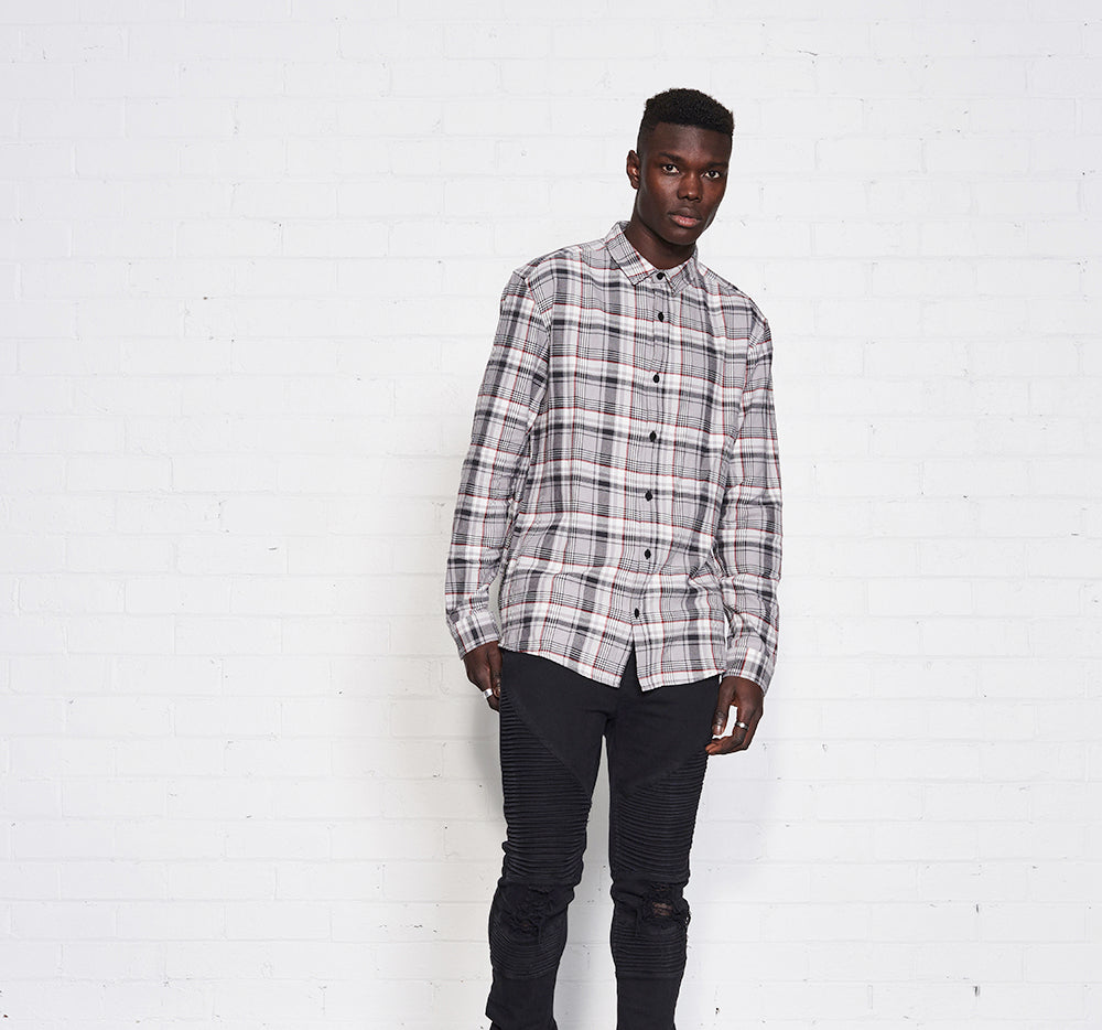 CENTRAL SHIRT - Gray Plaid