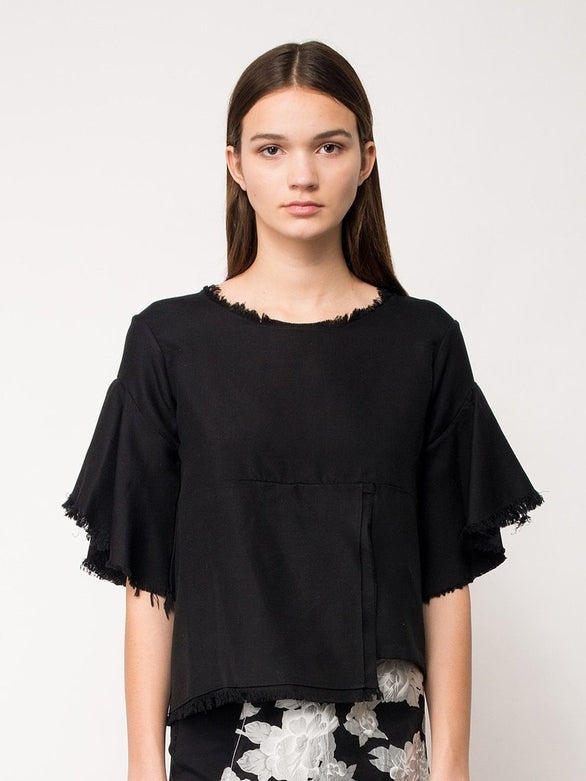 LILLIAN TOP - BLACK