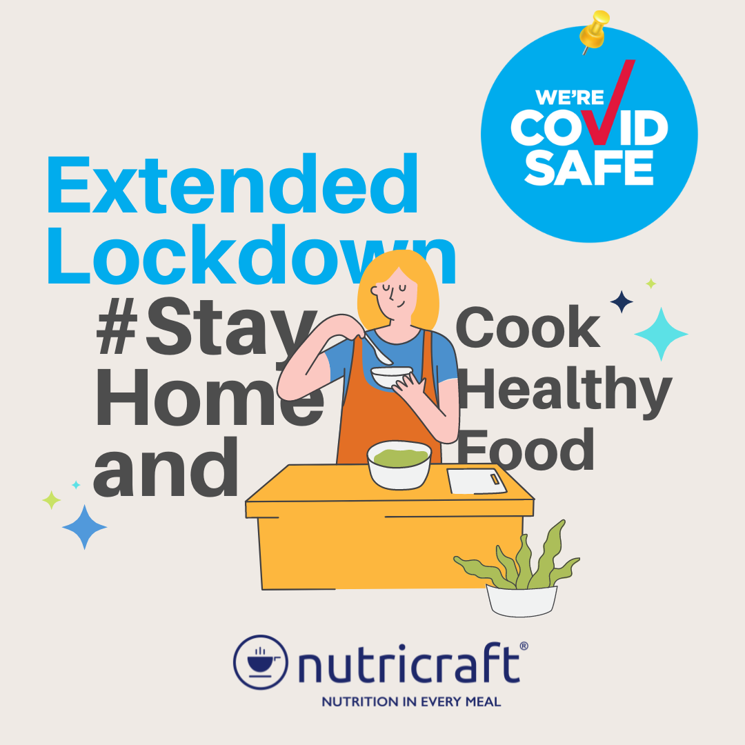 Sydney extended its lockdown. As we stay at home, may we not forget to cook healthy meals for our family. Health is our greatest weapon against COVID-19.   Nutricraft Cookware encourages healthy cooking. Read all about it here https://bit.ly/3g7x4U2.