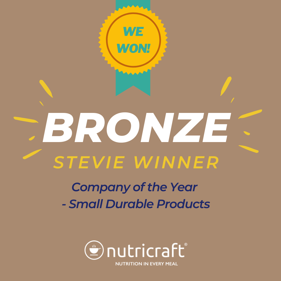 Nutricraft is a Bronze Stevie Winner Company of the Year for Small Durable Consumer Products
