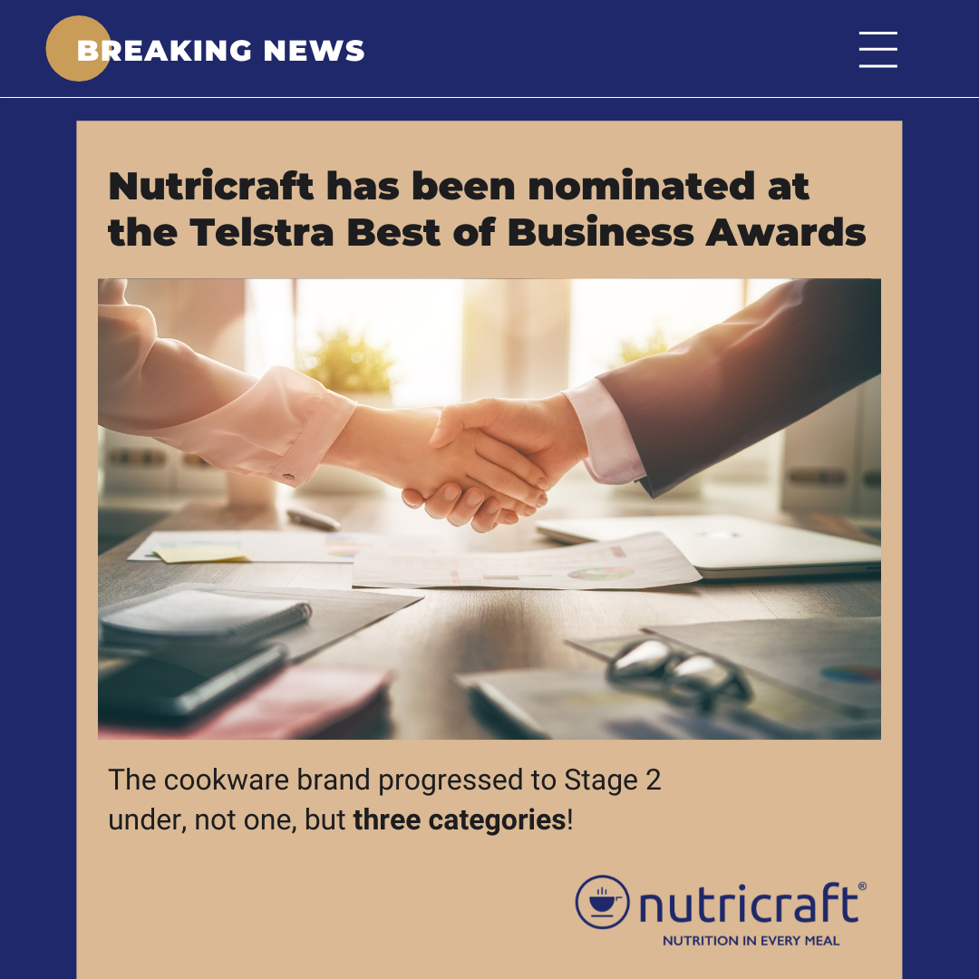 Nutricraft has been nominated at the Telstra Best of Business Awards