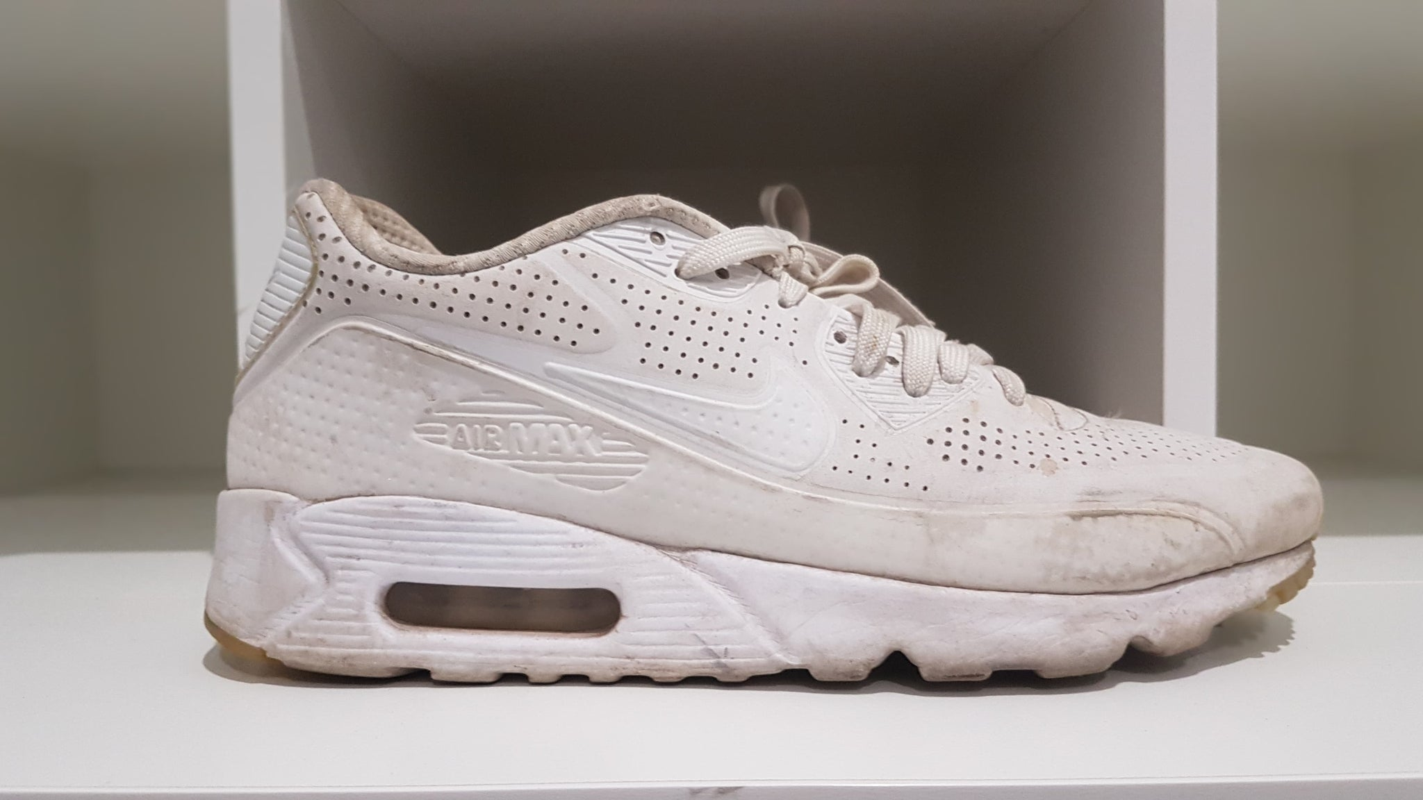 check out fea42 7ce15 Nike Air Max 90 Ultra Moire Triple White (Pre-Owned) (US8) *READ  DESCRIPTION*