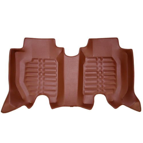 3RD ROW 5D Car Mat - KIA Carens  (Brown)