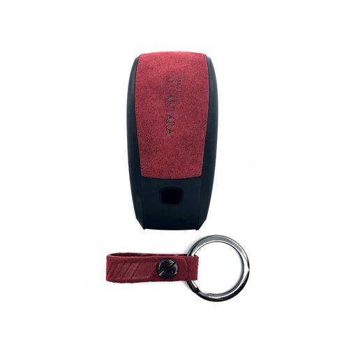 Aegis Car Key Holder - Alcantara for Mercedes Benz N2 - Red