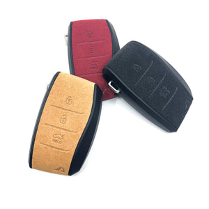Aegis Aero Alcantara Leather Hyundai Elantra (600) 3 Button Smart Key Case - BROWN