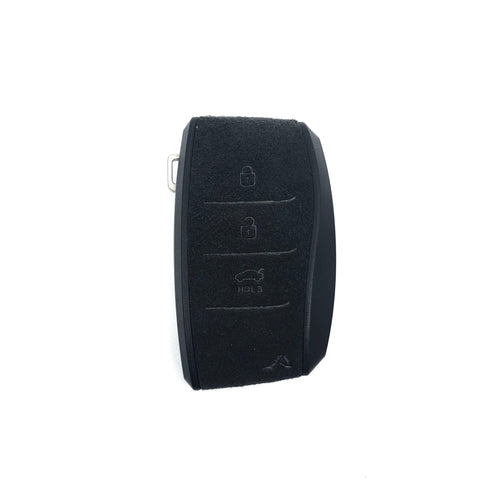 Aegis Aero Alcantara Leather Hyundai Elantra (600) 3 Button Smart Key Case - GRAY/BLACK