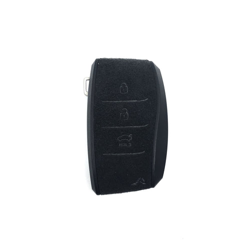 (PRE-ORDER)Aegis Aero Alcantara Leather Hyundai Elantra (600) 3 Button Smart Key Case - GRAY/BLACK