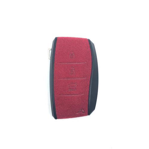 Aegis Aero Alcantara Leather Hyundai Elantra (600) 3 Button Smart Key Case - RED