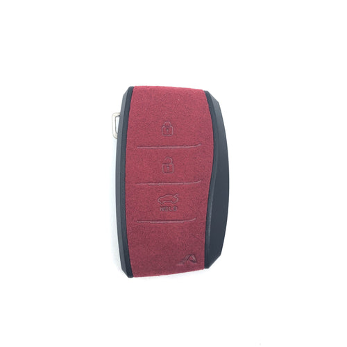 (PRE-ORDER)Aegis Aero Alcantara Leather Hyundai Elantra (600) 3 Button Smart Key Case - RED