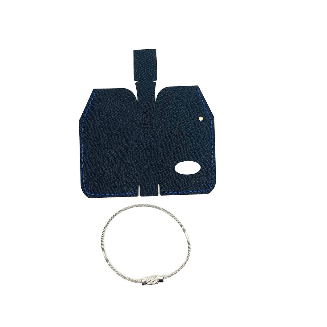 Aegis Leather K3 Skin Cover (blue stitching) + Metal Ring