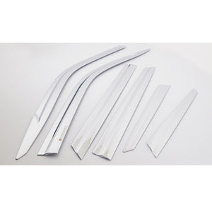 Auto Clover Door Visor (Chrome 6pcs set) -Nx 2015