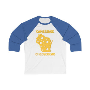 CAMBRIDGE Unisex 3/4 Sleeve Baseball Tee