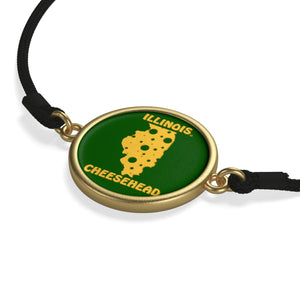 ILLINOIS Cord Bracelet ( GREEN )