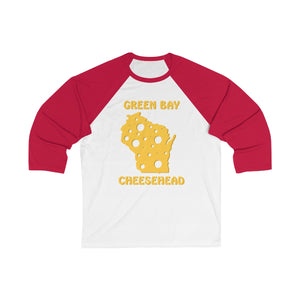 GREEN BAY Unisex 3/4 Sleeve Baseball Tee