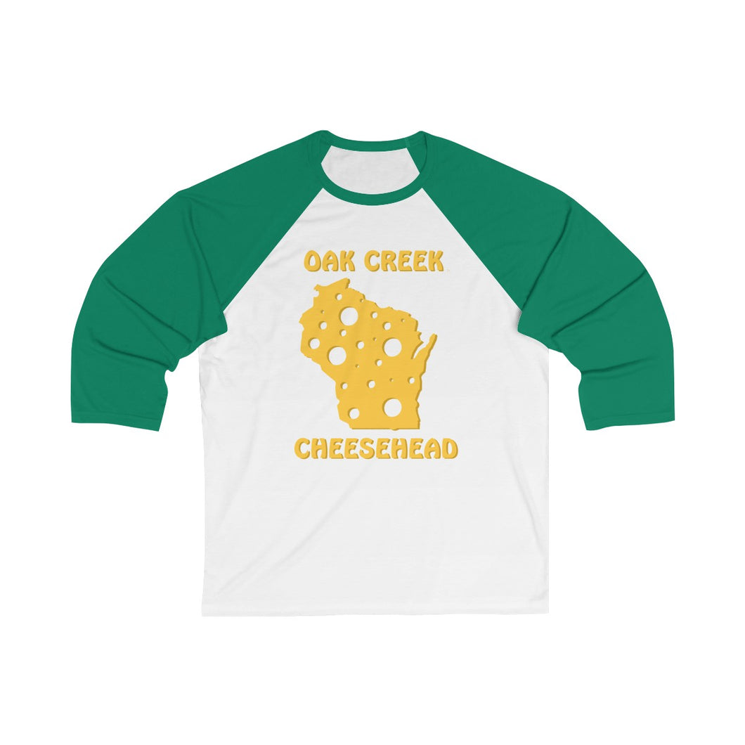OAK CREEK Unisex 3/4 Sleeve Baseball Tee