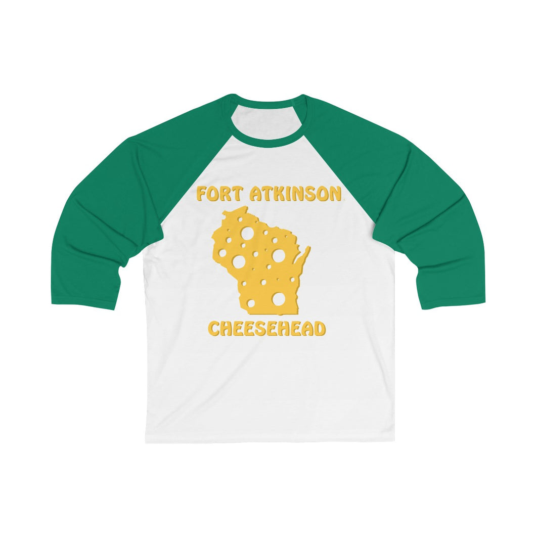 FORT ATKINSON Unisex 3/4 Sleeve Baseball Tee