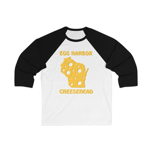 EGG HARBOR Unisex 3/4 Sleeve Baseball Tee