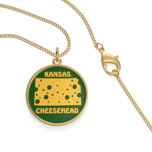 KANSAS Single Loop Necklace (GREEN)