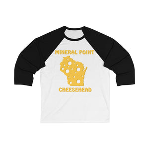 MINERAL POINT Unisex 3/4 Sleeve Baseball Tee