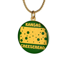 Load image into Gallery viewer, KANSAS Single Loop Necklace (GREEN)