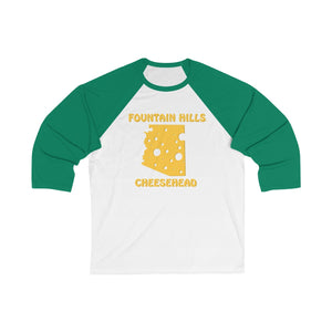 FOUNTAIN HILLS Unisex 3/4 Sleeve Baseball Tee