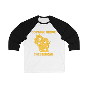 COTTAGE GROVE Unisex 3/4 Sleeve Baseball Tee