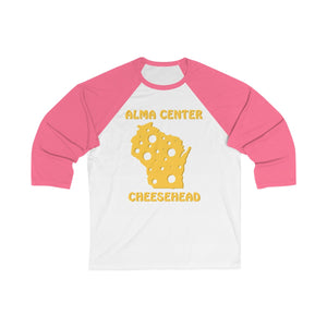 ALMA CENTER Unisex 3/4 Sleeve Baseball Tee