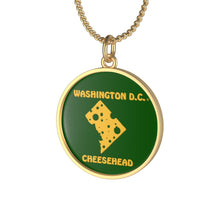 Load image into Gallery viewer, WASHINGTON D.C. Single Loop Necklace (GREEN)