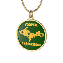 Load image into Gallery viewer, YOOPER Single Loop Necklace (GREEN)