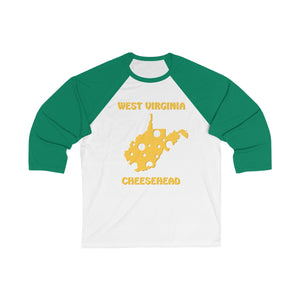 WEST VIRGINIA Unisex 3/4 Sleeve Baseball Tee