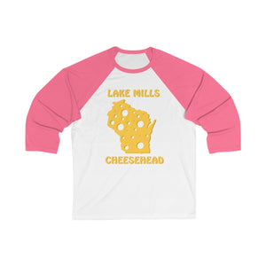 LAKE MILLS Unisex 3/4 Sleeve Baseball Tee