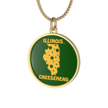 Load image into Gallery viewer, ILLINOIS Single Loop Necklace (GREEN)